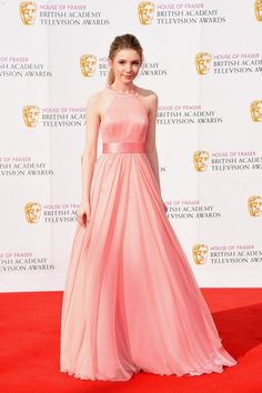 Eleanor Worthington Cox British Academy Television Awards Chiffon Prom Dress 1d1a09848129