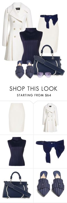 """""""- 80 - Altuzarra - Bag & Shoes"""" by atenaide86 ❤ liked on Polyvore featuring River Island, GUESS, Pleats Please by Issey Miyake, Maison Margiela, Altuzarra and Swarovski"""