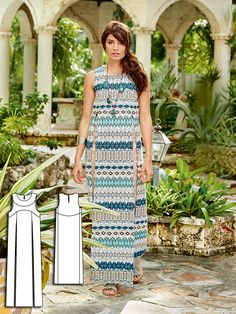 Cover-Up Maxi Dress 04/2016 #104 http://www.burdastyle.com/pattern_store/patterns/cover-up-maxi-dress-042016?utm_source=burdastyle.com&utm_medium=referral&utm_campaign=bs-tta-bl-160314-BohoSpirit104