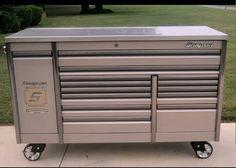 Snap On 76 Sierra Ice Titanium Epiq Tool Box Toolbox Stainless Steel Top Garage Tools, Car Tools, Garage Plans, Garage Storage, Tool Storage, Garage Shop, Garage Ideas, Shop Tool Boxes, Tool Box Diy