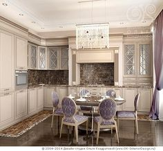 Лавандовая кухня в стиле ар-деко - http://www.ok-interiordesign.ru/ph17_kitchen_interior_design.php