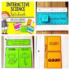 Living or Nonliving Interactive Science Notebook for Little Learners