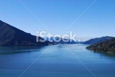 A view up the Kenepuru Sound, in the Marlborough Sounds, New Zealand. Maori Legends, Marlborough Sounds, Image Now, New Zealand, Royalty Free Stock Photos, Sky, Photography, Blue, Heaven