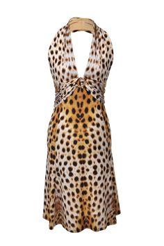 #RobertoCavalli #leopardprint #dress #neckholder #secondhand #onlineshopping #clothes #fashion #vintage #mymint
