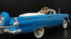1956 Ford Thunderbird Pedal Car A Vintage Hot T Rod Midget Metal Show Model 1957
