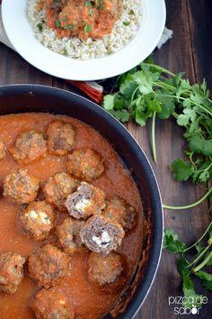 Albóndigas con salsa de tomate y chipotle www.pizcadesabor.com