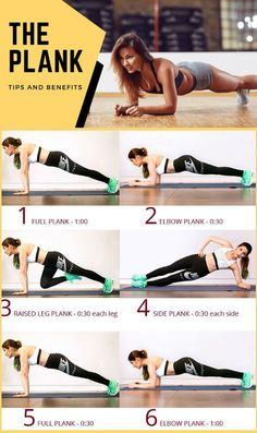 To help you improve your plank game and core strength anywhere, any time, we put together the below plank workout. Add it to the end of a full-body workout, or simply do it when you're looking for a quick strength routine you can do with minimal ti Fitness Workouts, Fitness Motivation, Pilates Workout Routine, Gym Workout Tips, Plank Workout, Yoga Routine, Workout Videos, Yoga Fitness, At Home Workouts