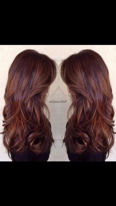 Caramel and butterscotch balayage ombré. I want my hair like this. So much. Beautiful rich warm brown with caramel and butterscotch hair melting ombré to give an amazing effect. This uses the technique of ombré balayage to created a varied natural looking