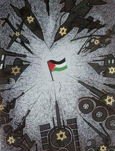 Palestine vivra, une affiche de François Miehe, réalisée en août 2014