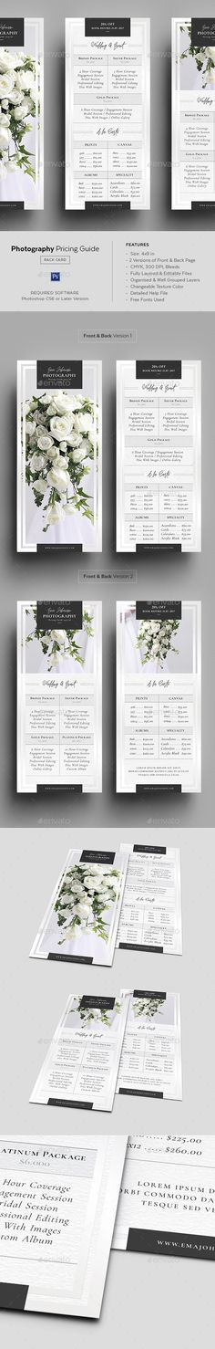 Price List Template u2013 19+ Free Word, Excel, PDF, PSD Format - rack card template