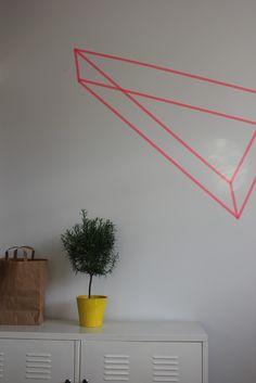 Geometric shape on wall