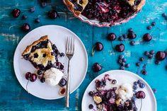 Vanilla Bourbon Cherry-Blueberry Pie. - Half Baked Harvest