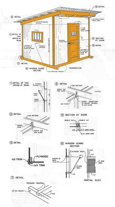 Amazing Shed Plans - Shed Plans More Now You Can Build ANY Shed In A Weekend Even If You've Zero Woodworking Experience! Start building amazing sheds the easier way with a collection of shed plans! 8x12 Shed Plans, Wood Shed Plans, Shed Building Plans, Building Ideas, Building Design, Diy Storage Shed Plans, Storage Sheds, Shed Blueprints, Shed Construction
