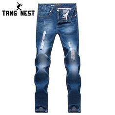 >> Click to Buy << Hot Sale 2017 New Man's Solid Jeans Simple Style Casual Fashion Men Jeans Hole Decorated Youth Full Length Pants For Male MKN380 #Affiliate