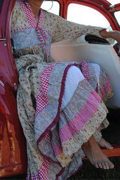colors!! beautiful vintage fabrics!