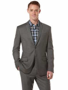 Slim Fit Solid Suit Jacket, Iron Ore Heather, hi-res