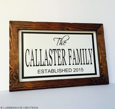 Family name signs. Great holiday gifts!