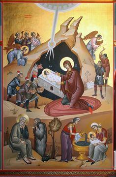 - Santa Maria, Spirited Art, Byzantine Icons, Art Icon, Orthodox Icons, Merry Christmas, Christmas Decorations, Anime, Painting