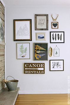 How to Create an Eclectic Gallery Wall by MichaelsMakers Lil Blue Boo