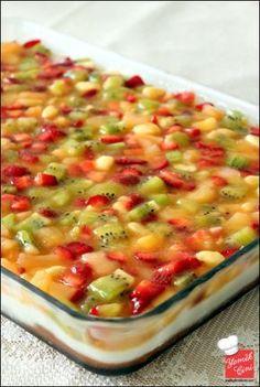 Muhallebili & Meyveli Kek
