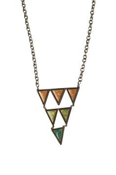 Pyramid Triangle Necklace