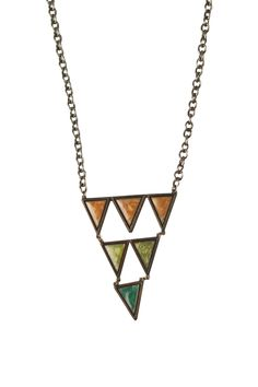 $22.90 Shoptiques — Pyramid Triangle Necklace