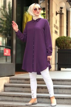 The perfect addition to any Muslimah outfit, shop Muslim fashion Nayla Collection - Patterned Hijab Tunic Find more Tunic at Tesetturisland! Muslim Women Fashion, Modest Fashion, Hijab Fashion, Fashion Outfits, Indian Gown Design, Pakistani Dress Design, Vintage Dresses Online, Vintage Girls Dresses, Evening Gowns With Sleeves