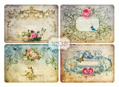 ArtCult Printable Images are great for art and craft projects.    These are digital files which you can print yourself.  These are not printed paper
