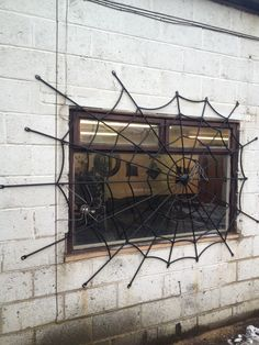 Spider Web Security Grill - Art Of Metal