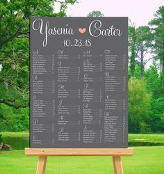 Instant Download Printable Seating Chart Poster Template Wreath