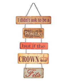Another great find on #zulily! 'Princess' Hanging Wall Sign #zulilyfinds