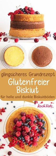 Grundrezept Biskuit glutenfrei   hell oder dunkel   einfach und gelingsicher   Schritt für Schritt Anleitung