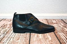 Black Ankle Boots  Leather Ankle Boots  Black by TheBraidedBandit, $42.00