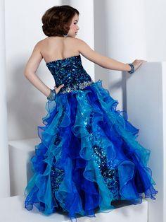 Floor Length A-line Pageant Dress Tiffany Princess 13313: PageantDesigns.com