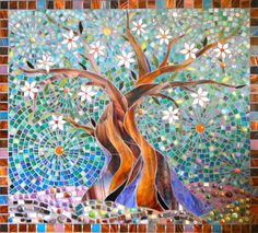 Mosaic Tree Print Limited Edition Giclee Print from an Original Glass Mosaic - Mosaic Art