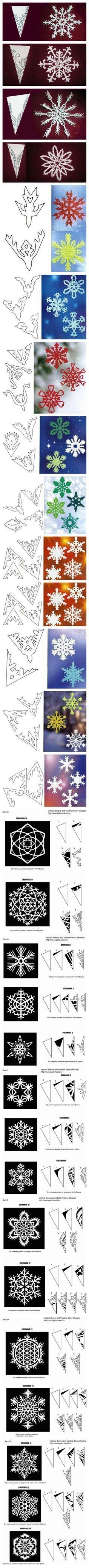 How to Make Excellent Paper Snowflakes Beyond the basics! #DIY #Paper_Snowflakes #joybx