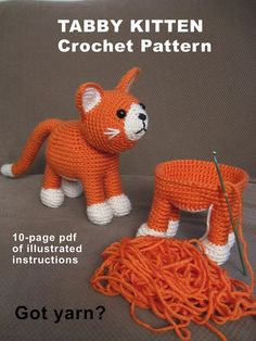 Im just smitten with this cute crochet kitten! This pattern is based on my cat, Fred, who I adopted as a stray, a very particular little guy. A: