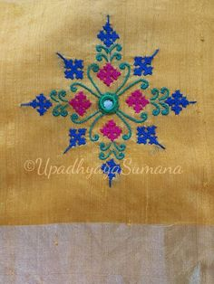 Handmade Embroidery Designs, Kurti Embroidery Design, Hand Embroidery Projects, Embroidery Neck Designs, Hand Embroidery Videos, Bead Embroidery Patterns, Embroidery Stitches Tutorial, Embroidery Works, Creative Embroidery