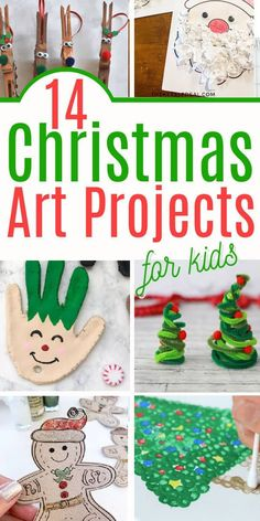 Christmas art ideas for teachers. These Christmas art projects for kids are perfect for the winter holidays. Christmas crafts for kids. Great winter crafts for elementary school kids and preschool Christmas crafts for kids Pinterest Christmas Crafts, Preschool Christmas Crafts, Christmas Art Projects, Fun Projects For Kids, Easy Halloween Crafts, Crafts For Kids To Make, Christmas Activities, Holiday Crafts, Fun Crafts