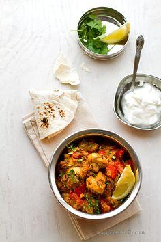 Mushroom Tikka Masala Recipe, a Guest Post on Rasa Malaysia Veggie Recipes, Indian Food Recipes, Asian Recipes, Vegetarian Recipes, Cooking Recipes, Healthy Recipes, Easy Recipes, Healthy Foods To Eat, Healthy Eating