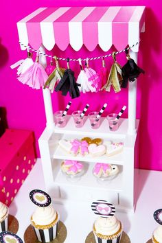 Mini Sweet Stand from an American Girl Doll BFF Party: Inspired by Kate Spade via Kara's Party Ideas   KarasPartyIdeas.com (7)