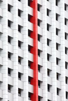 Architecture we like / Facade / Pattern / RED / Lost In Pattern / at inspiration Minimalist Architecture, Facade Architecture, Installation Architecture, Architectural Pattern, Minority Report, Minimal Photography, Frank Gehry, Facade Design, Textures Patterns