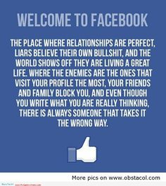 sooooo trueeee!! I am done with Facebook!! Bye Bye stalkers & pointless drama.   Yaaaaawn! Tired of narcissistic and egotistical people.
