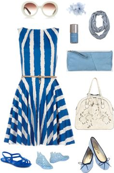 """""""Blue summer"""" by divineshape on Polyvore"""