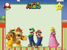 Free Printable Super Mario Bros Invitation Template Invitation