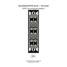 peyote pattern beadwork black and white 3 bracelet tutorial