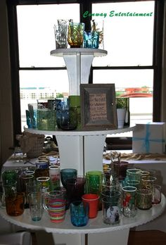 Allowing your guest to pick from a assortment of glasses to drink from and keep
