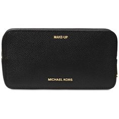 Michael Michael Kors Studio Mercer Large Double Zip Travel Pouch (1,850 EGP) ❤ liked on Polyvore featuring beauty products, beauty accessories, bags & cases, black and michael kors