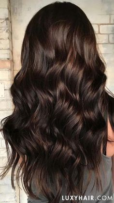 hair HAIR INSPO: Chocolate Brown Luxy Hair Extensions Kitchen installation: things to consider. Brown Hair Shades, Brown Ombre Hair, Brown Blonde Hair, Ombre Hair Color, Brown Hair Colors, Pretty Brown Hair, Dark Brunette Balayage Hair, Long Brunette Hair, Wavy Hair