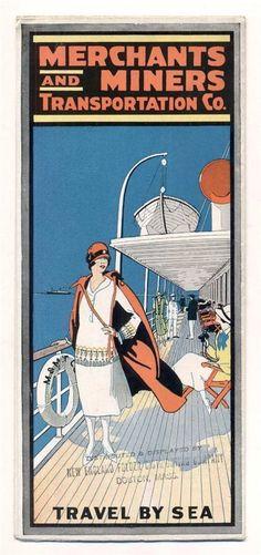 1932 VINTAGE BROCHURE Merchants & Miners Transportation Co. COASTWISE STEAMSHIP